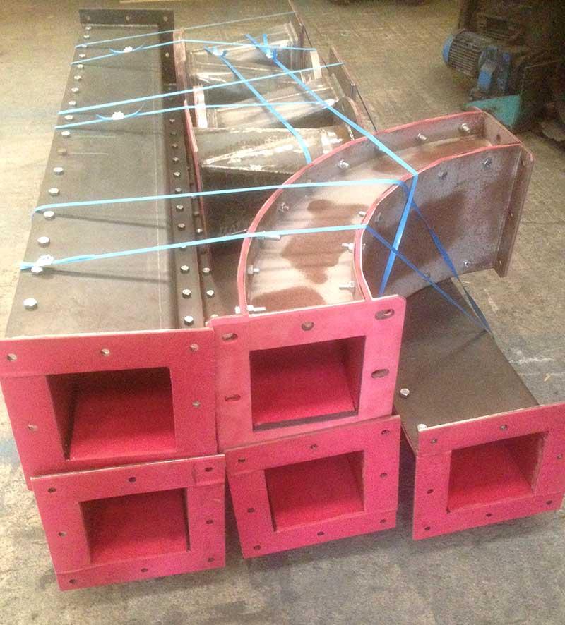 Garnissage de tuyaux pour cabine de grenaillage industrielle