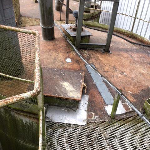 Réfection - Avant travaux - Toit silo